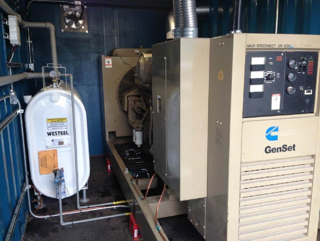 350kw Cummins installed in a 20 foot container and installed in a Ford facility-A
