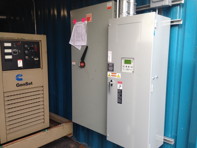 350kw Cummins installed in a 20 foot container and installed in a Ford facility-C
