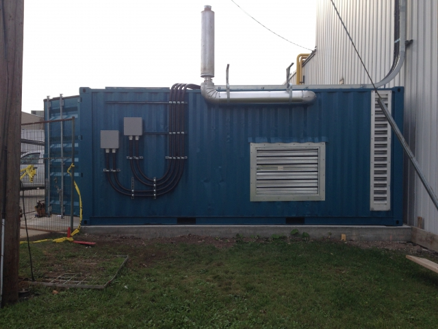 350kw Cummins installed in a 20 foot container and installed in a Ford facility-D