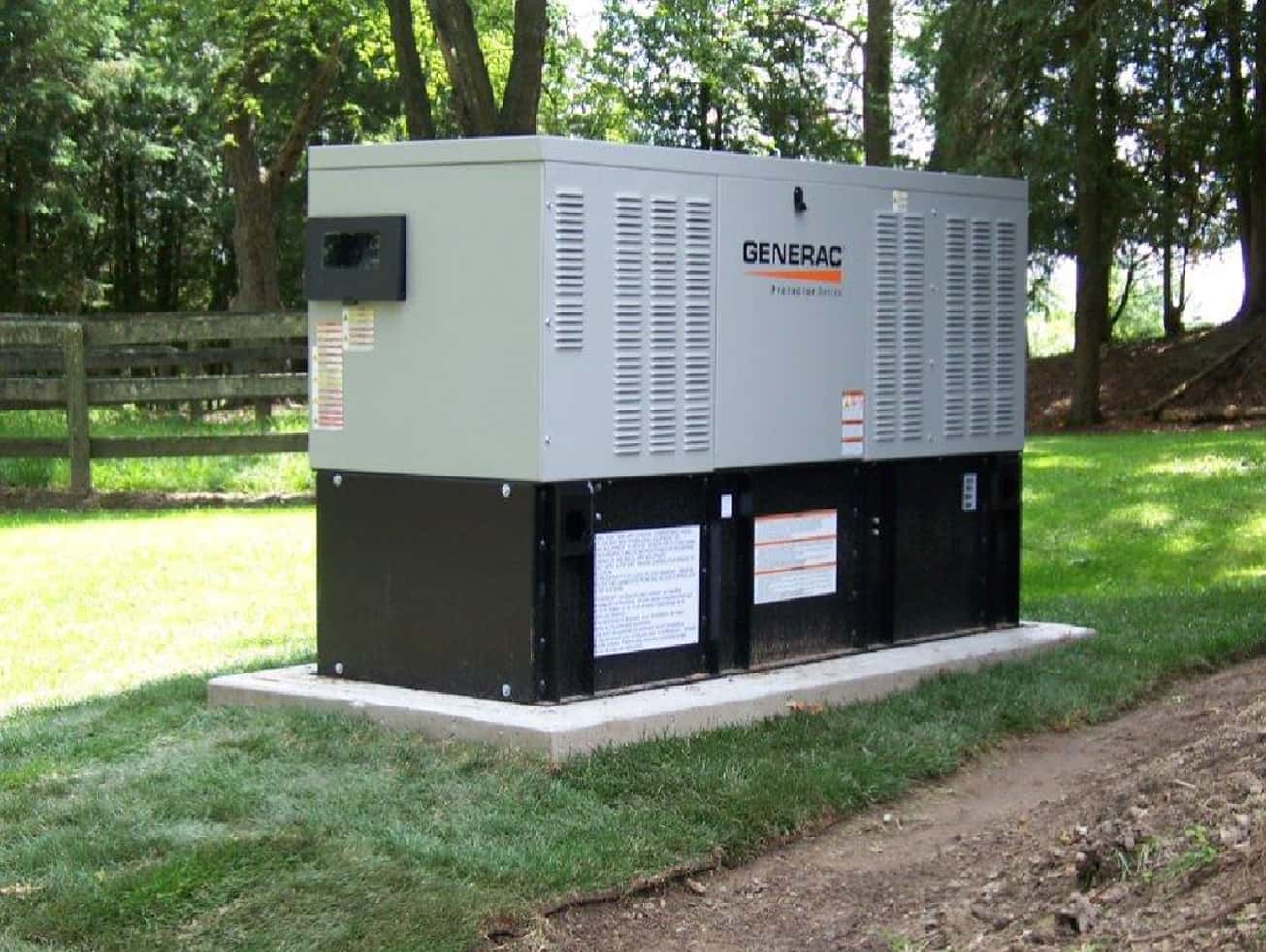 New 30 kw diesel generator installed on farm in King- B