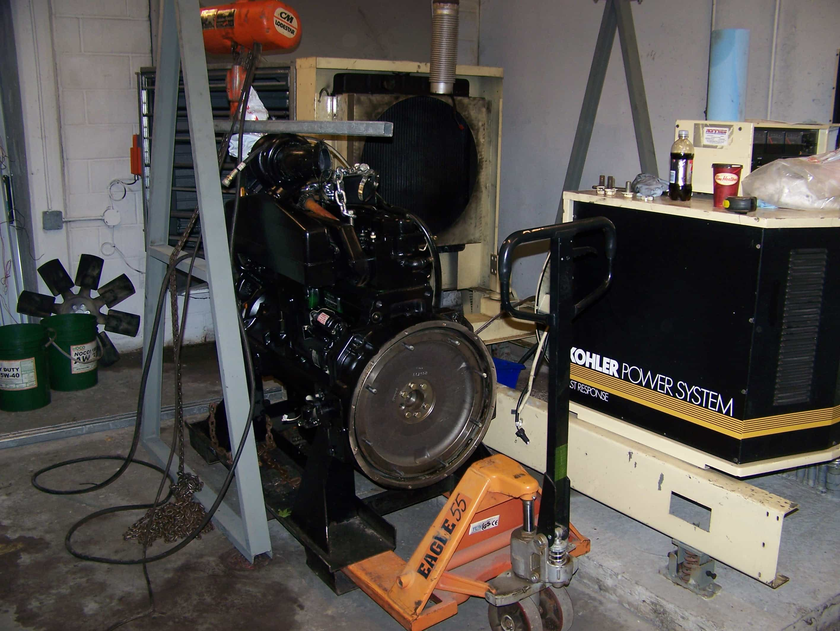 Replacing diesel engine in 180kw KOHLER generator-A