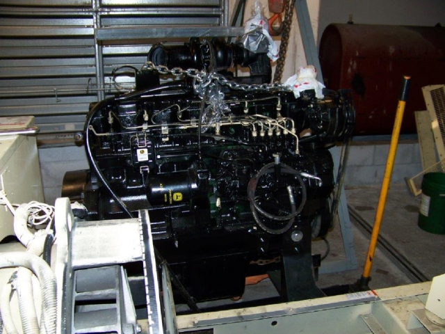 Replacing diesel engine in 180kw KOHLER generator-B