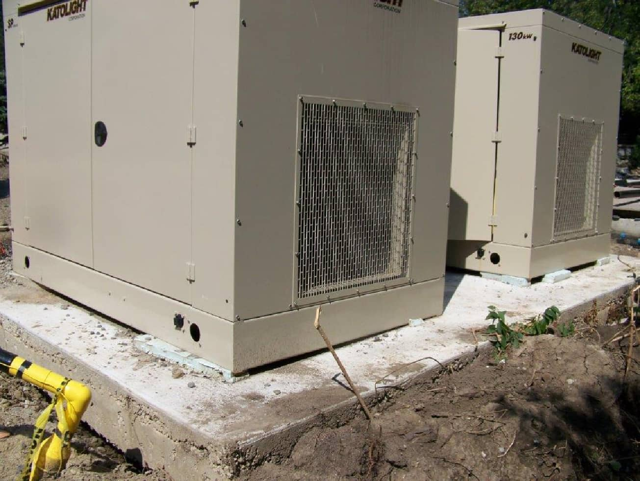 installing 2 new 130kw generators at a home in Toronto-B